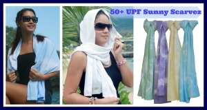 Light as a feather, cool as a breeze, blocks 97% UV scarf
