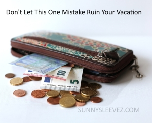 VACATION PICK POCKET WARNING